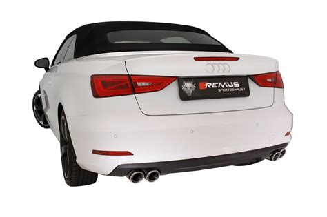 audi a3 exhaust system remus performance exhaust system for audi a3 convertible