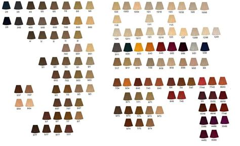 koleston color chart wella koleston hair colour 60ml listing 1 ebay