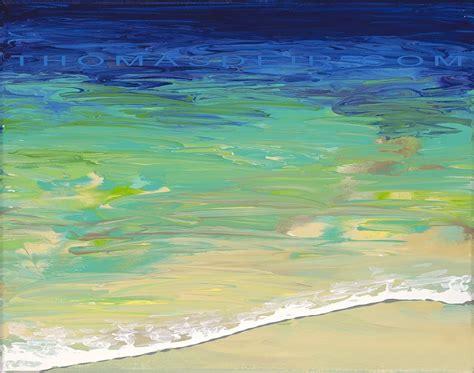 How To Paint Tile Backsplash In Kitchen Abstract Beach Paintings Thomas Deir Honolulu Hi Artist