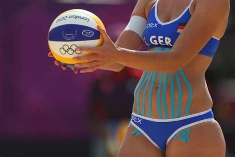 hot womens beach volleyball malfunctions katrin holtwick photos photos olympics day 1 beach