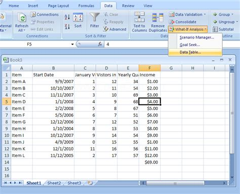 what if analysis data table dss what if analysis goal seeking and dashboard