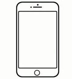 here is a free template of an iphone or smartphone