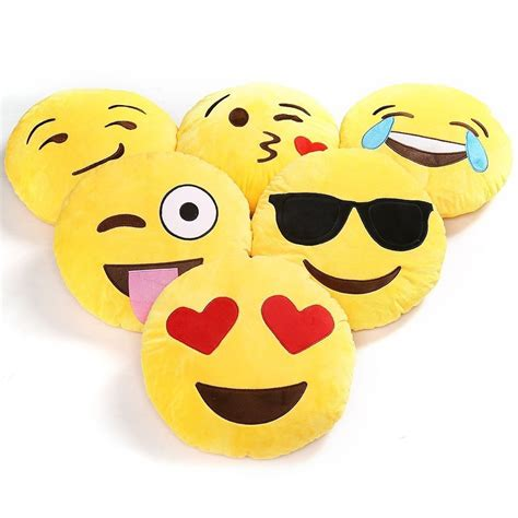 Emoticon Pillow by Emoji Pillow Emoticon Smiley Cushion Yellow Stuffed Plush Gift Ebay