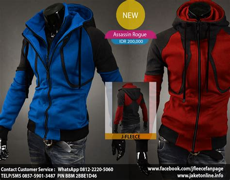 Jaket Assassin Biru By J Fleece j fleece toko jaket model korea terbaik