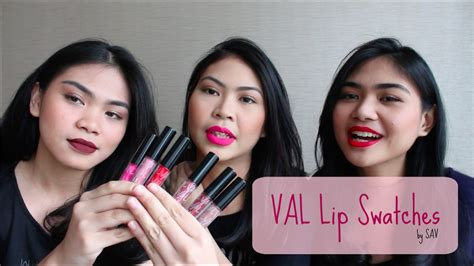 Lipstik Val val by valerie lip swatches review