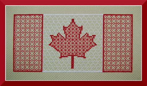 pattern maker winnipeg canada flag blackwork pattern canadian maple leaf counted