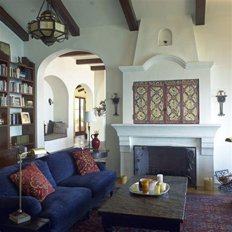 spanish living room spanish colonial retreat malibu hills
