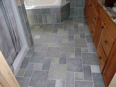 grey tile flooring ideas for small bathrooms and wooden