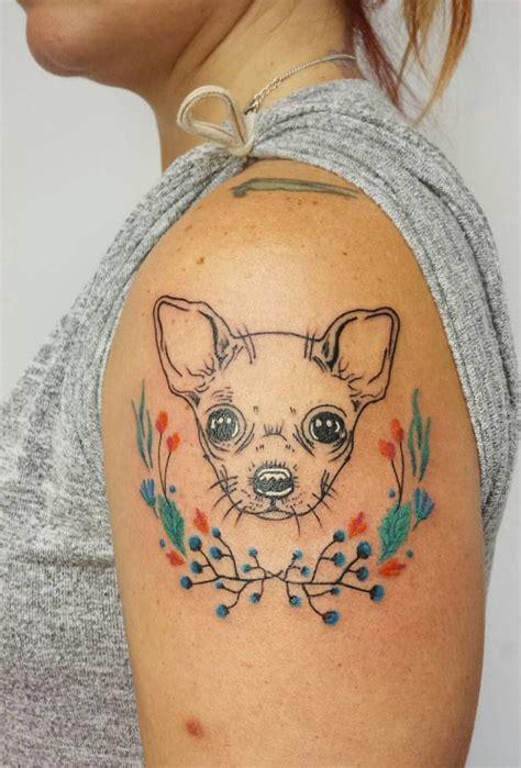 chihuahua tattoo chihuahua by aline wata tattoos