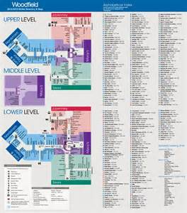 mall map of woodfield mall a simon mall schaumburg il