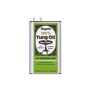 Hope S 100 Pure Tung Oil Moisture Resistant Wood Finish