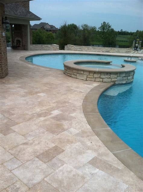 paver pool deck travertine pool decks are travertine pavers ok for pools