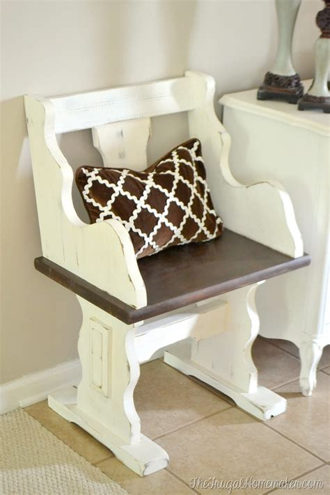 small church pew bench small pew bench makeover with chalky finish paint