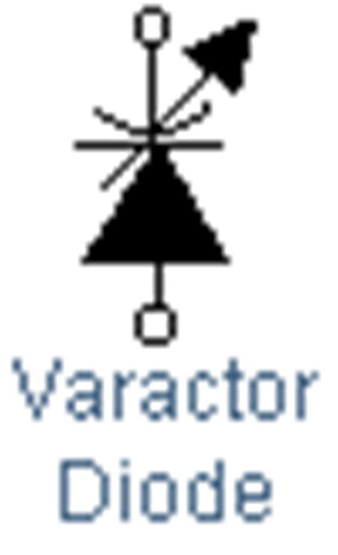 symbol of varactor diode glossary of electronic and engineering terms va