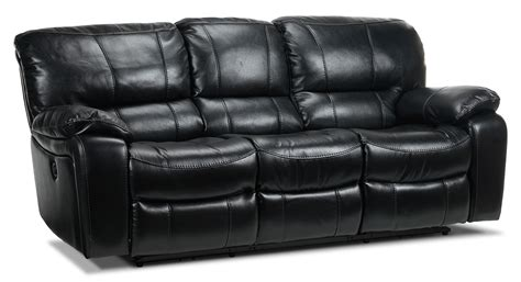 black reclining sofa santorini power reclining sofa black leon s