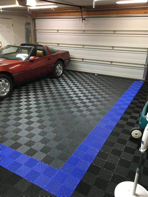 racedeck vloer before and after racedeck free flow brian s garage tile