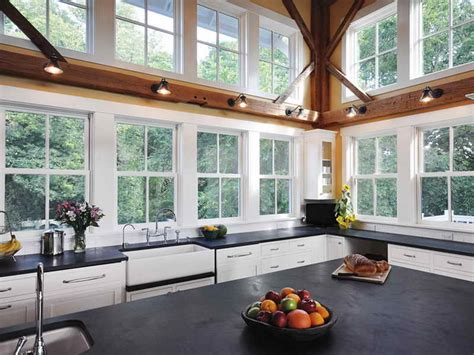 One Story House Plans With Large Kitchens by Doors Amp Windows Modern Farmhouse Style Windows Farmhouse