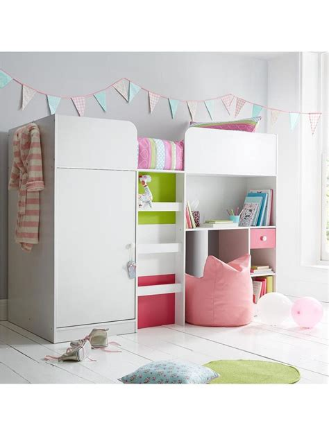 Mid Sleeper Bed With Wardrobe by Ladybird Orlando Fresh Mid Sleeper Bed With Built In