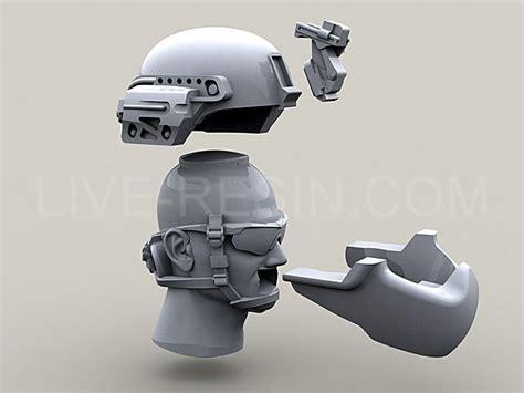 army modern heads  achmich helmet  cover  mtek predator face armour