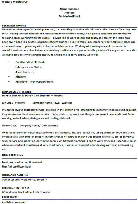 Wait staff resume sample receptionist job description un cv template uk waiter best recommendation letter writing yelopaper Images