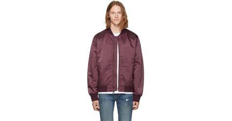 Jaket Sweater Hoodie Levis Maroon lyst levi s burgundy souvenir jacket in purple for