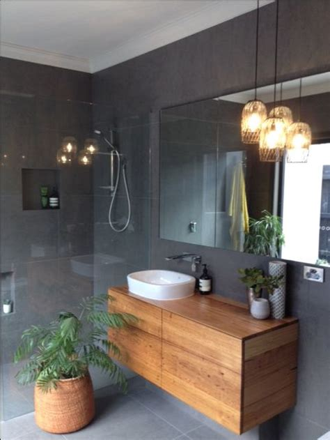 modern tiled bathrooms the 25 best timber vanity ideas on