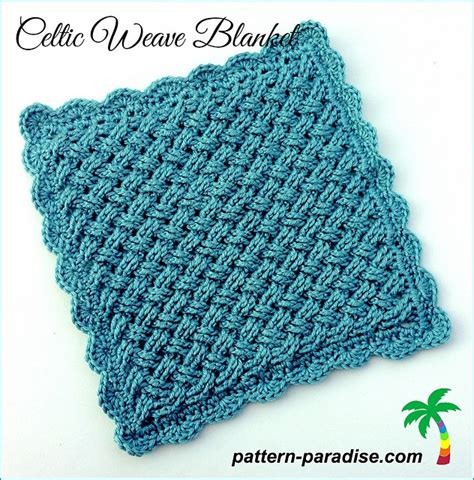 knit and crochet daily free pattern celtic weave blanket knit and crochet daily