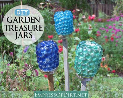 gardening crafts for how to make garden treasure jars easy kid craft