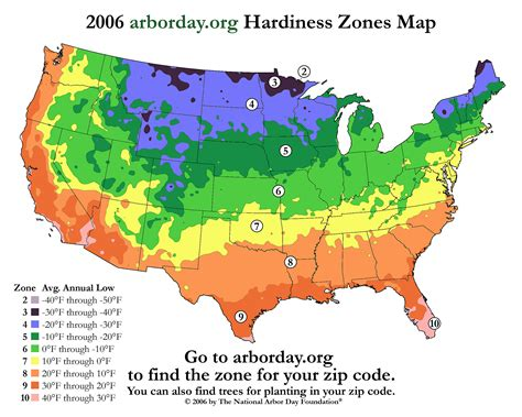 Landscape Zones Usa Us Bamboo Hardiness Zones Map And Chart