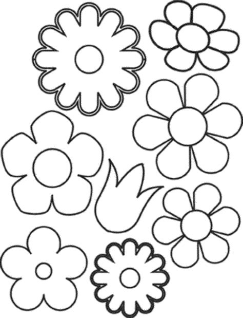 printable little flowers coloring pages for girls with flowers draw coloring pages
