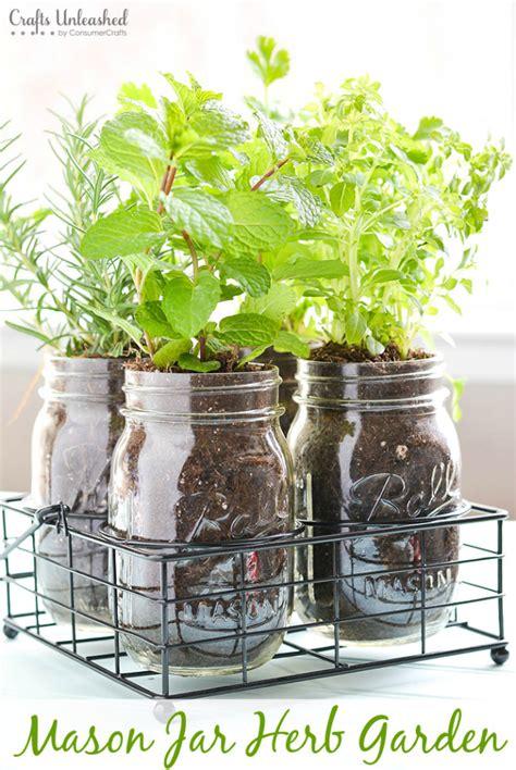 diy herb garden  mason jars crafts unleashed