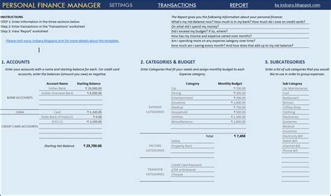 finance templates personal financial statement template xls writing and