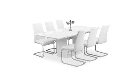 white gloss extending dining table soho extending dining table white high gloss