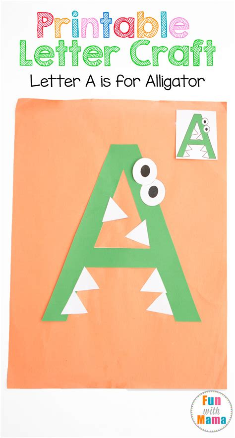 Printable Letter A Crafts A is for Alligator A