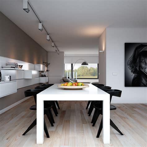 Apartment Lighting Ideas Indulgent Grey Apartment Modern Dining With Monochrome Setting And Rail Lighting Interior
