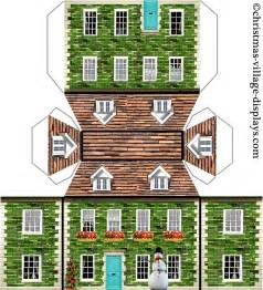 3d model templates free 6 best images of printable paper house models haunted