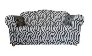 zebra sofa cover two seater zebra print sofa cover by sure fit
