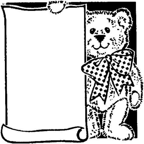 cornice da disegnare cornice con orsetto disegno da colorare gratis disegni