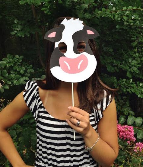fil a cow mask template free chik fil a cow mask