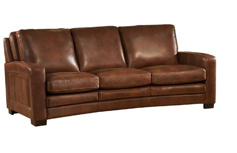 full leather couch joanna full top grain brown leather sofa