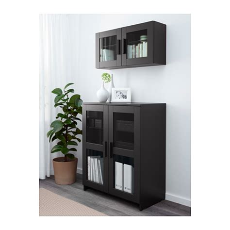 ikea storage cabinet with doors brimnes cabinet with doors glass black 78x95 cm ikea