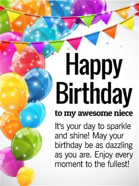 Happy Birthday To Niece Wishes You Are Amazing Happy Birthday Wishes Card For Niece