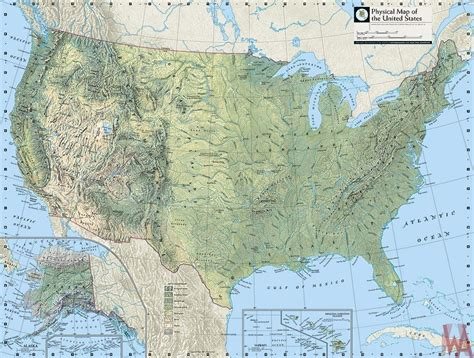 map of usa with mountains and rivers physical map of the united states with mountains rivers
