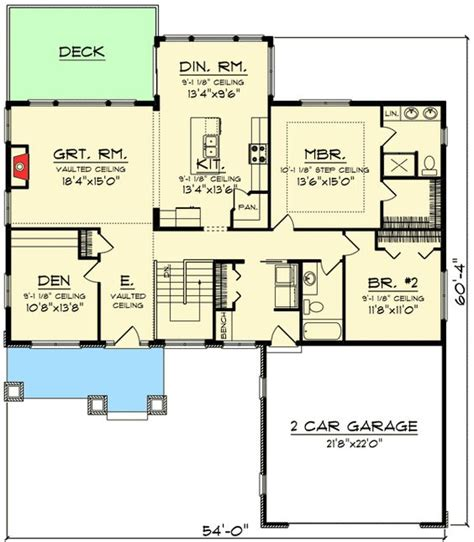 House Plans With Walk In Pantry by Plan 89954ah 2 Bed Craftsman Ranch Home Plan Home