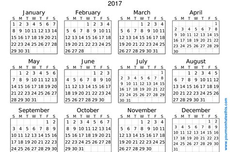 printable poster calendar 2017 calendar download