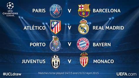 Calendrier 1 4 De Chions League Voici Les Quarts De Finale De La Ligue Des Chions