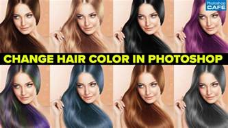 how to change hair color in photoshop tutorial photoshopcafe