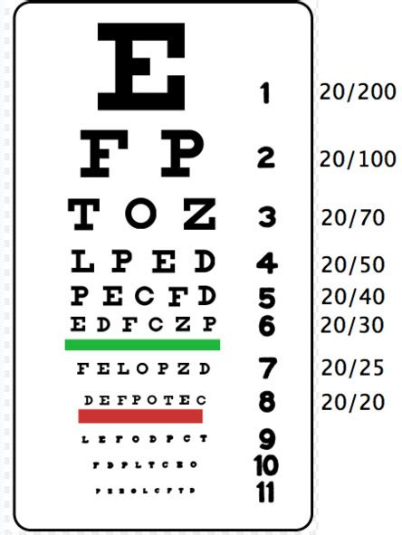 printable eye charts for near vision the patient is a off white coat