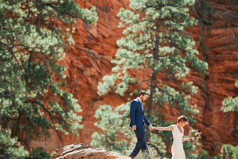 Wedding Zion National Park by Zion Switchback Wedding Brian Utah Wedding