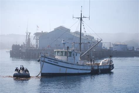 fishing boats monterey bay panoramio photo of monterey bay lonely fishing boat 2008